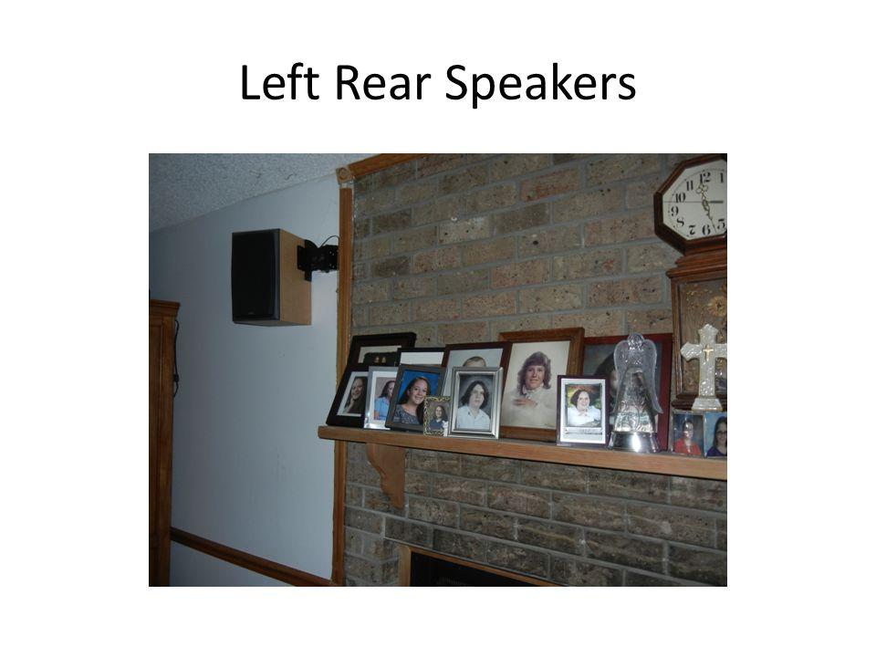Left Front Speakers