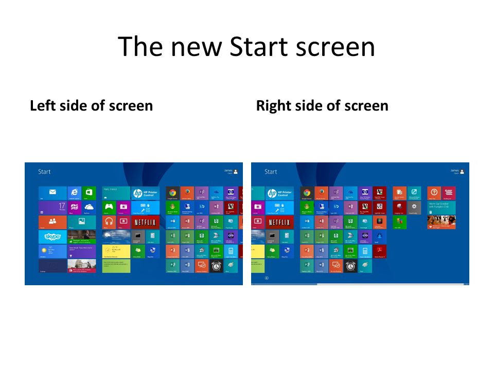 The Apps screen Left side of new Apps screenAvailable by link from Start