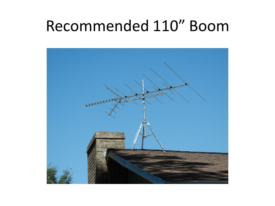 Recommended 110 Boom