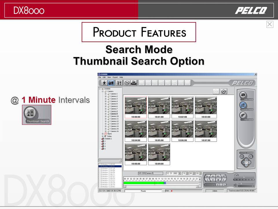 @ 1 Minute Intervals Search Mode Thumbnail Search Option