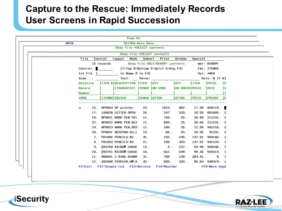 Capture to the Rescue: Immediately Records User Screens in Rapid Succession