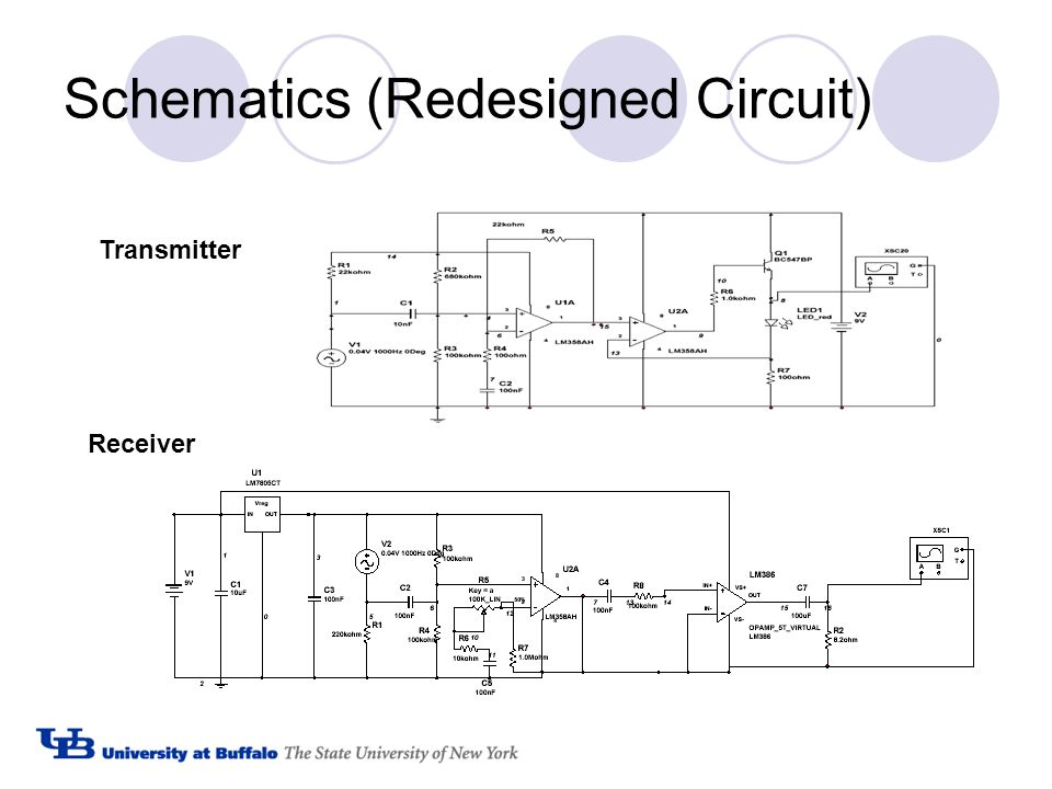 Schematics (Redesigned Circuit) Transmitter Receiver