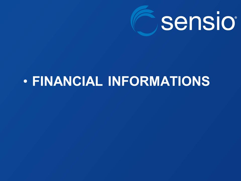 FINANCIAL INFORMATIONS