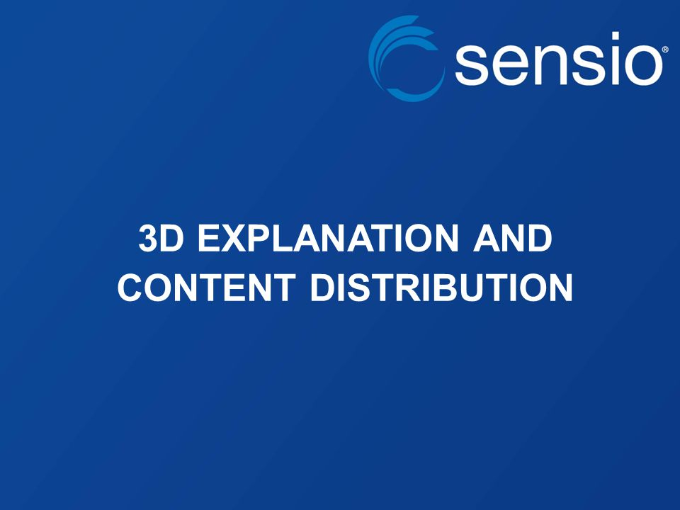 3D EXPLANATION AND CONTENT DISTRIBUTION