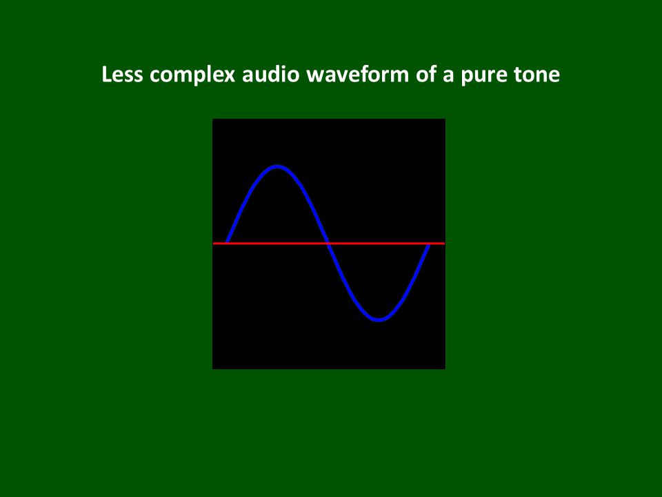 Less complex audio waveform of a pure tone