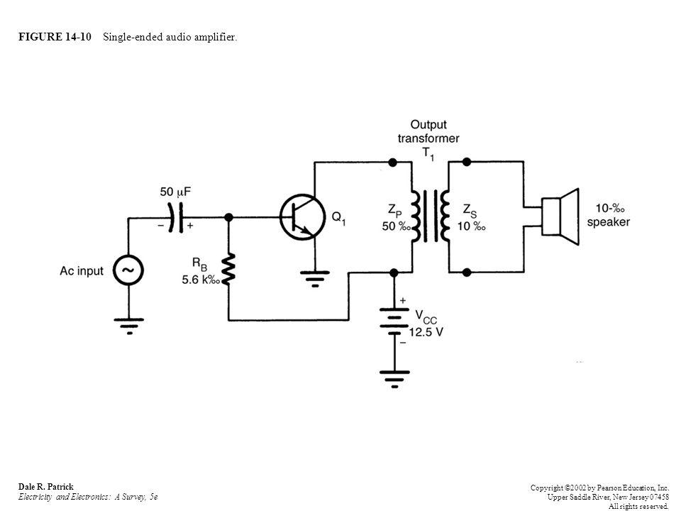 FIGURE 14-10 Single-ended audio amplifier. Dale R.