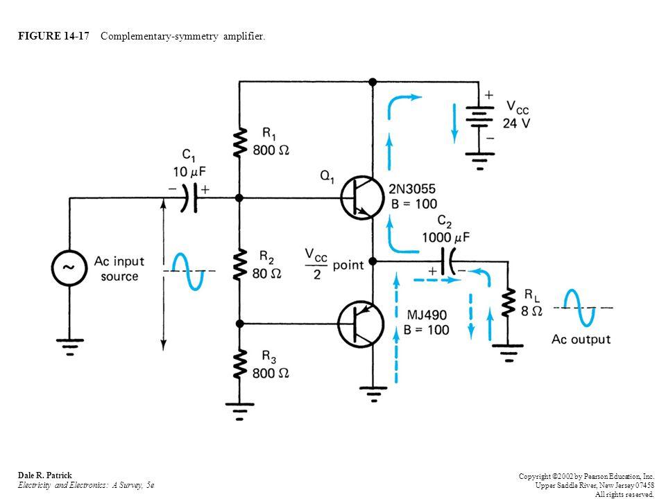 FIGURE 14-17 Complementary-symmetry amplifier. Dale R.