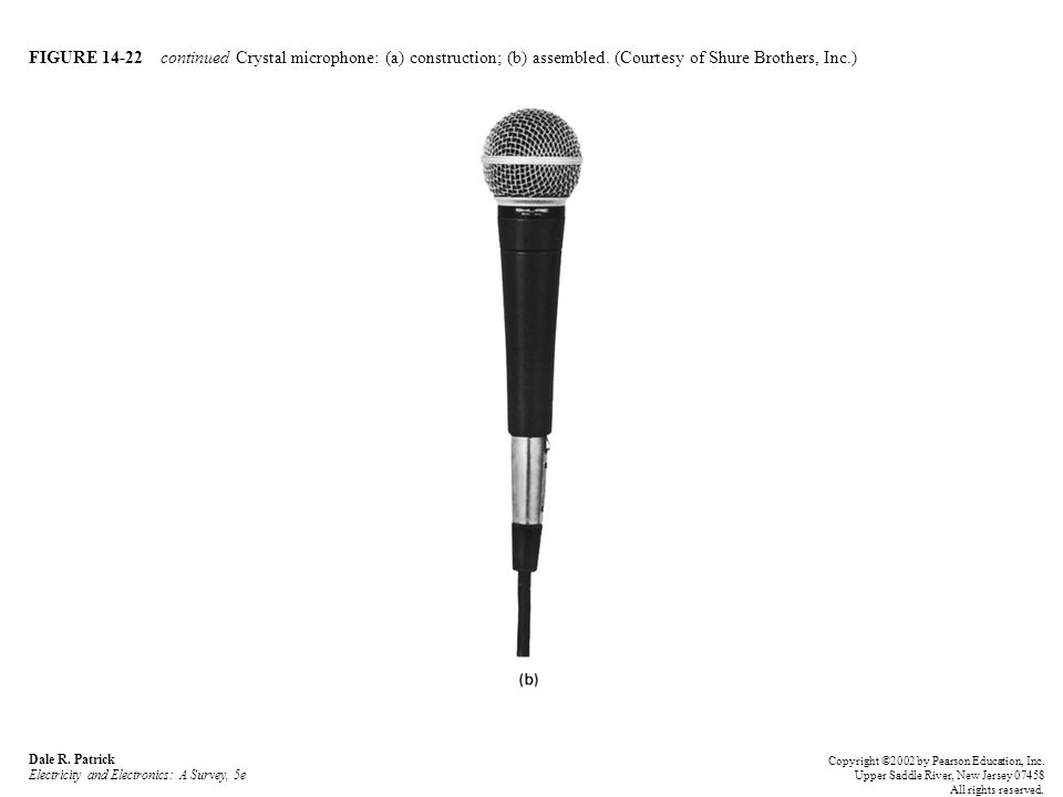 FIGURE 14-22 continued Crystal microphone: (a) construction; (b) assembled.