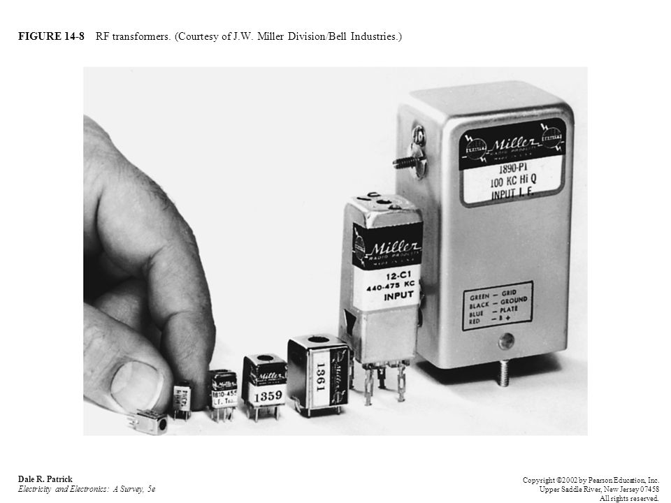 FIGURE 14-8 RF transformers. (Courtesy of J.W. Miller Division/Bell Industries.) Dale R.