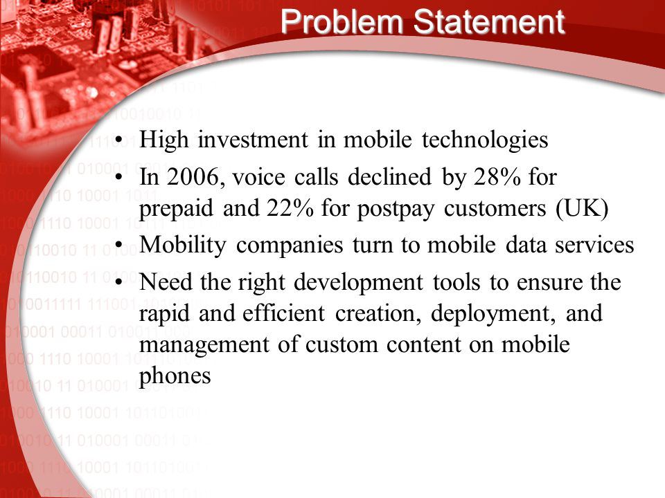 Definitions Mobile data service:  any service on a mobile phone other than voice e.g.