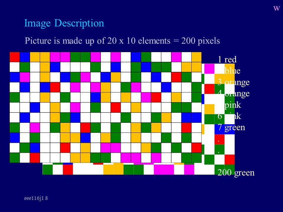eee116j1 8 Image Description 1 red 2 blue 3 orange 4 orange 5 pink 6 pink 7 green.