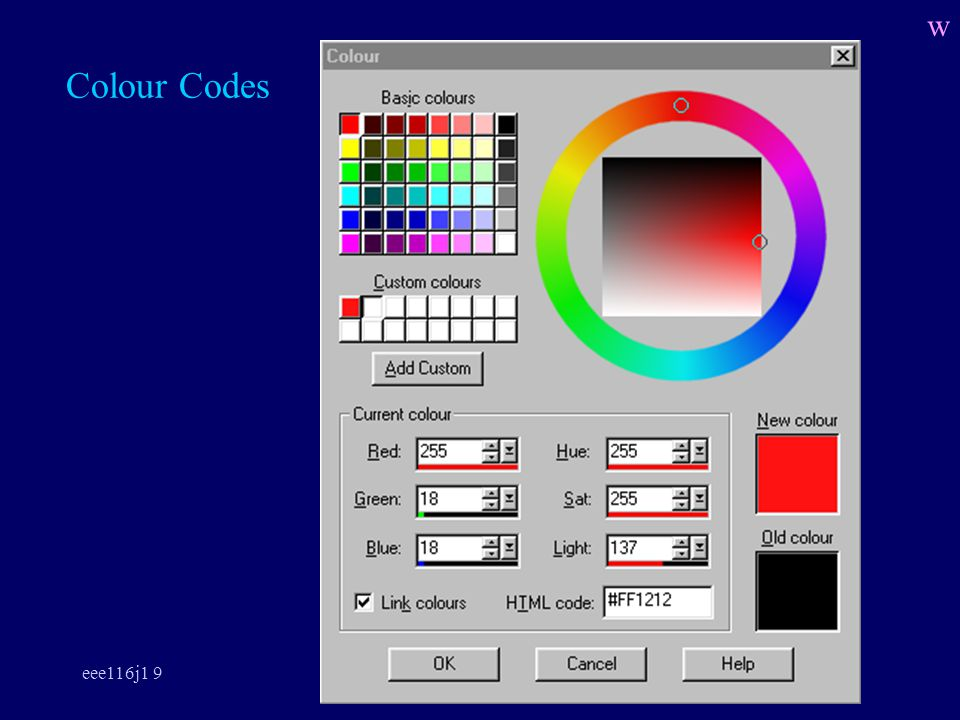 eee116j1 9 Colour Codes w