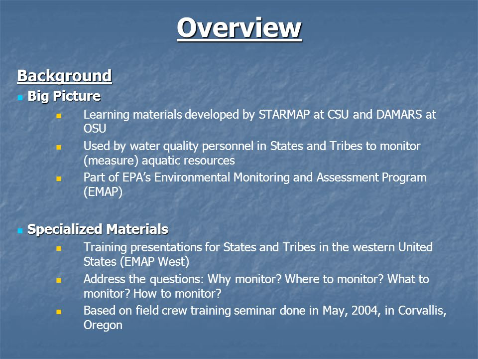 Features Links Links For example, in the presentation page below, you would be able to click on EMAP to access a detailed description of this program in the glossary.