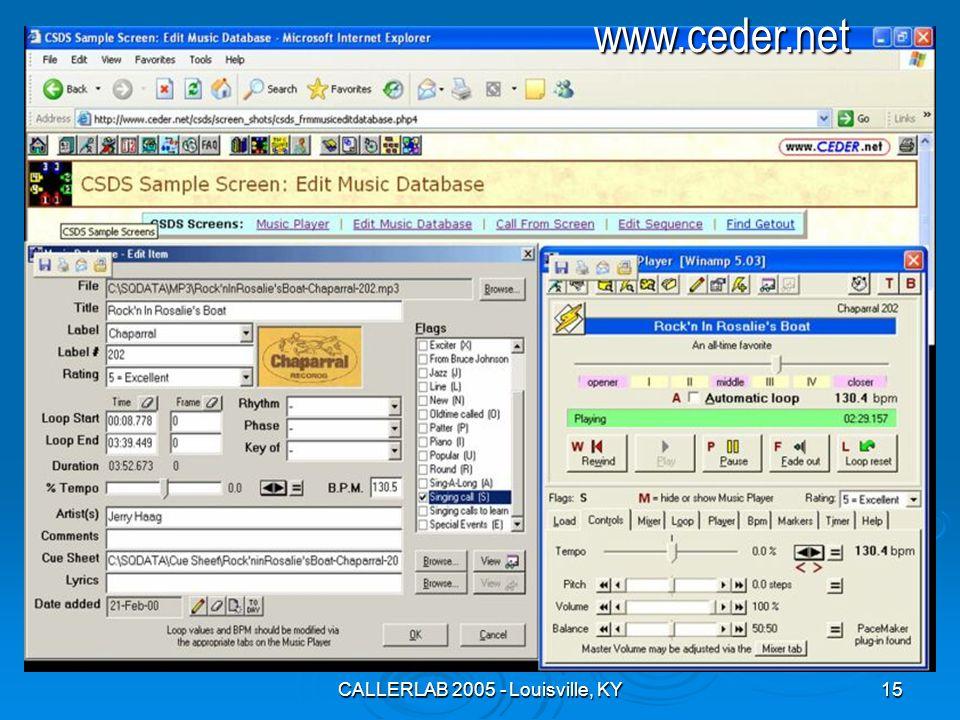 CALLERLAB 2005 - Louisville, KY15www.ceder.net