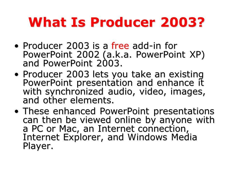 Microsoft Producer 2003