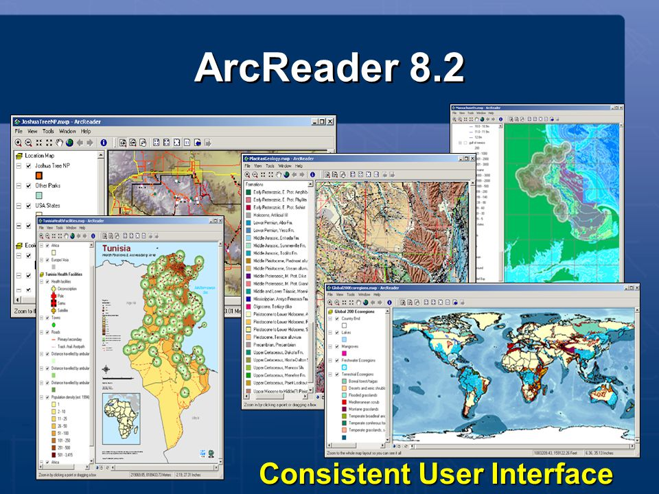 Consistent User Interface ArcReader 8.2
