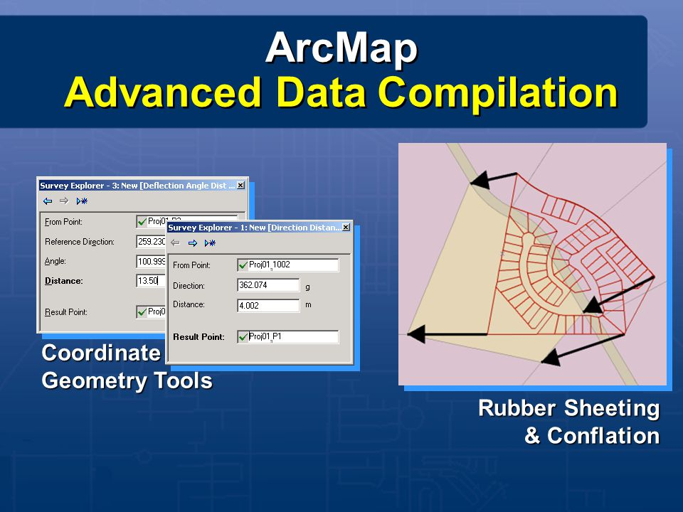 ArcPAD – GIS for Mobile Computing Inventory Monitoring Survey Reporting Editing Inventory Monitoring Survey Reporting Editing ArcPAD 6 ArcPAD 5 New Capabilities Customizing/ Scripting Improved Editing Rotated Symbols ArcGIS Support Better GPS Internationalized...