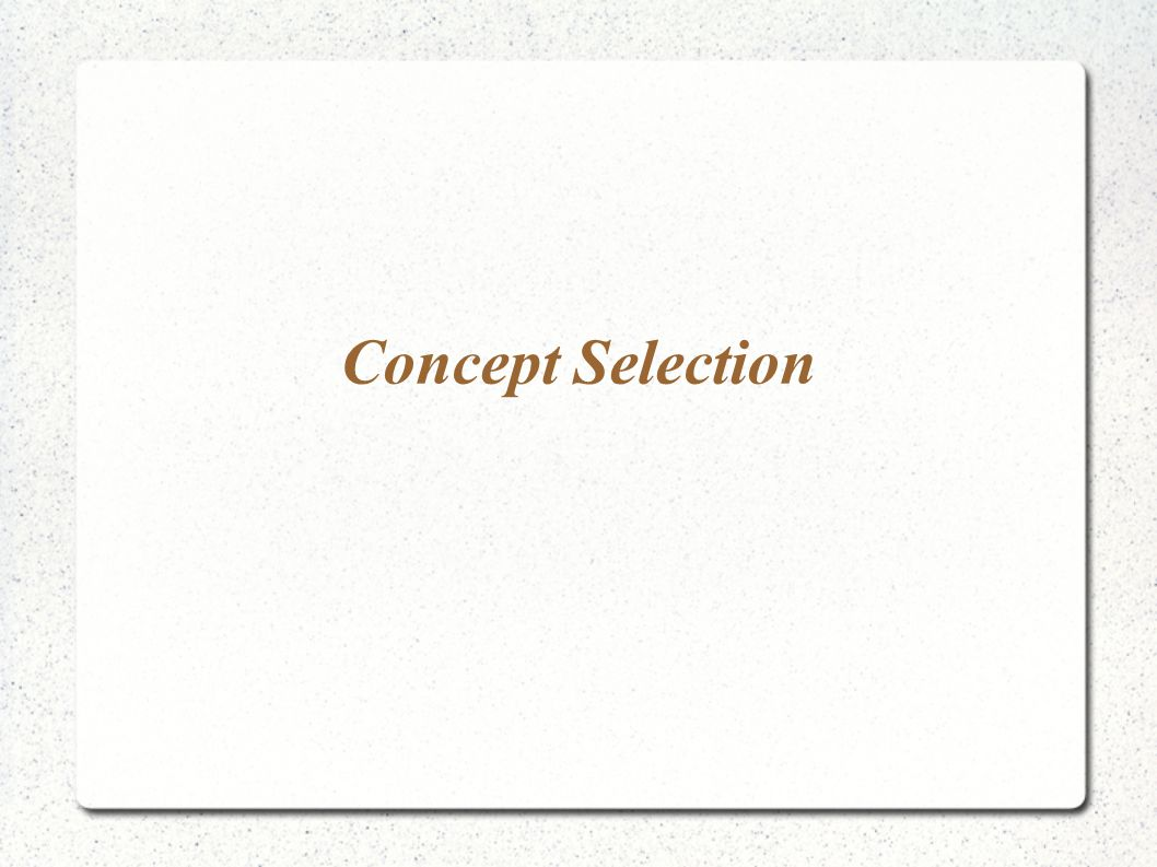 Concept Selection