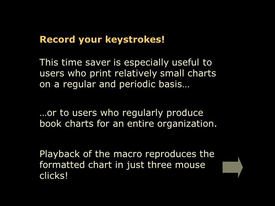 Record your keystrokes.