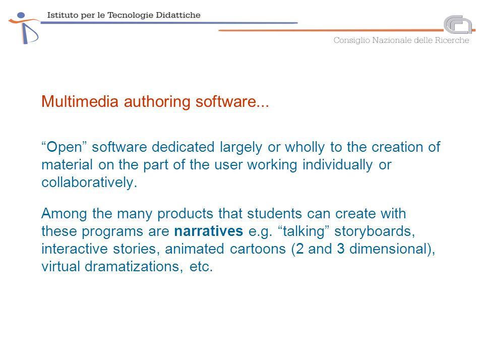 Multimedia authoring software...