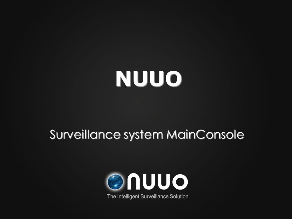 Surveillance system MainConsole NUUO