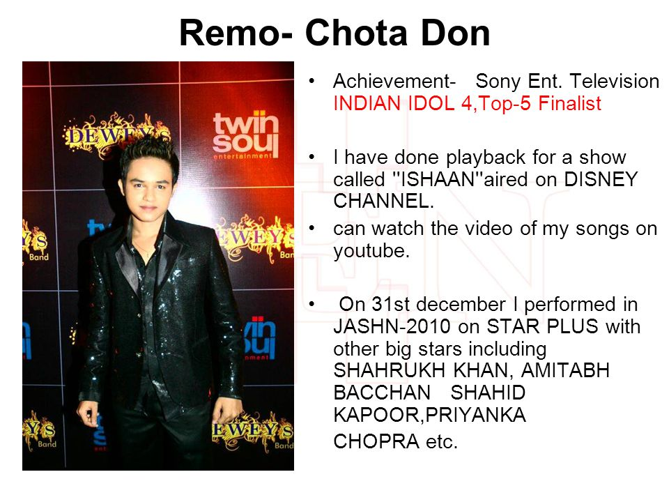 Remo- Chota Don Achievement- Sony Ent.