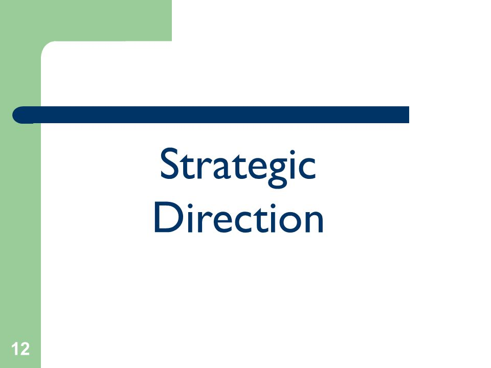 12 Strategic Direction