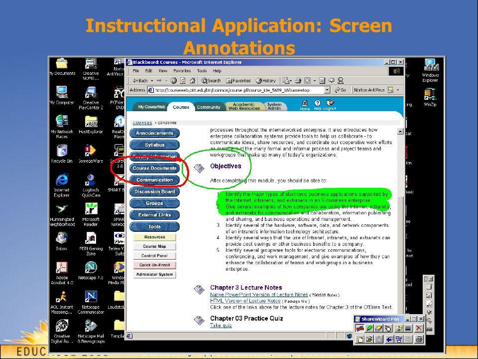 Instructional Application: Screen Annotations