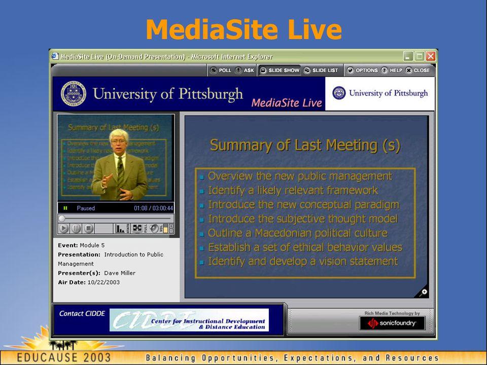 MediaSite Live