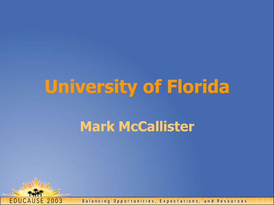 University of Florida Mark McCallister