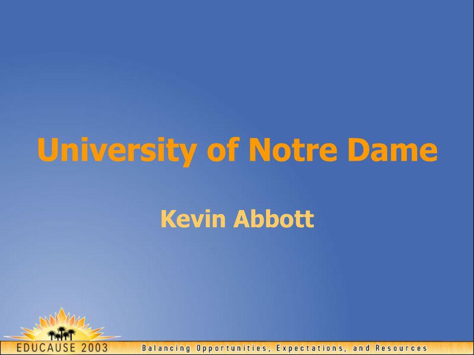 University of Notre Dame Kevin Abbott