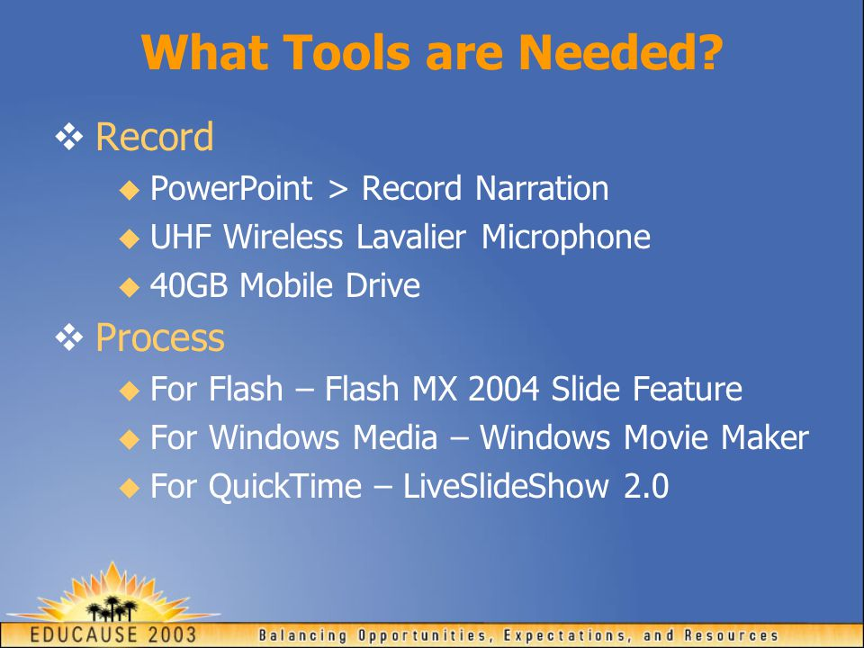 What Tools are Needed.