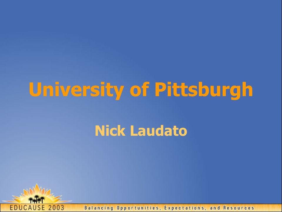 University of Pittsburgh Nick Laudato