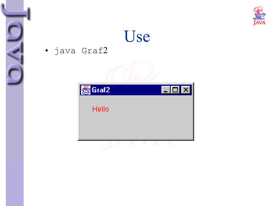 Use java Graf2