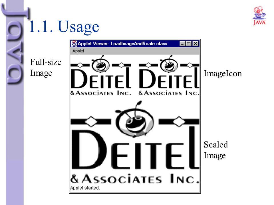 1.1. Usage ImageIcon Scaled Image Full-size Image