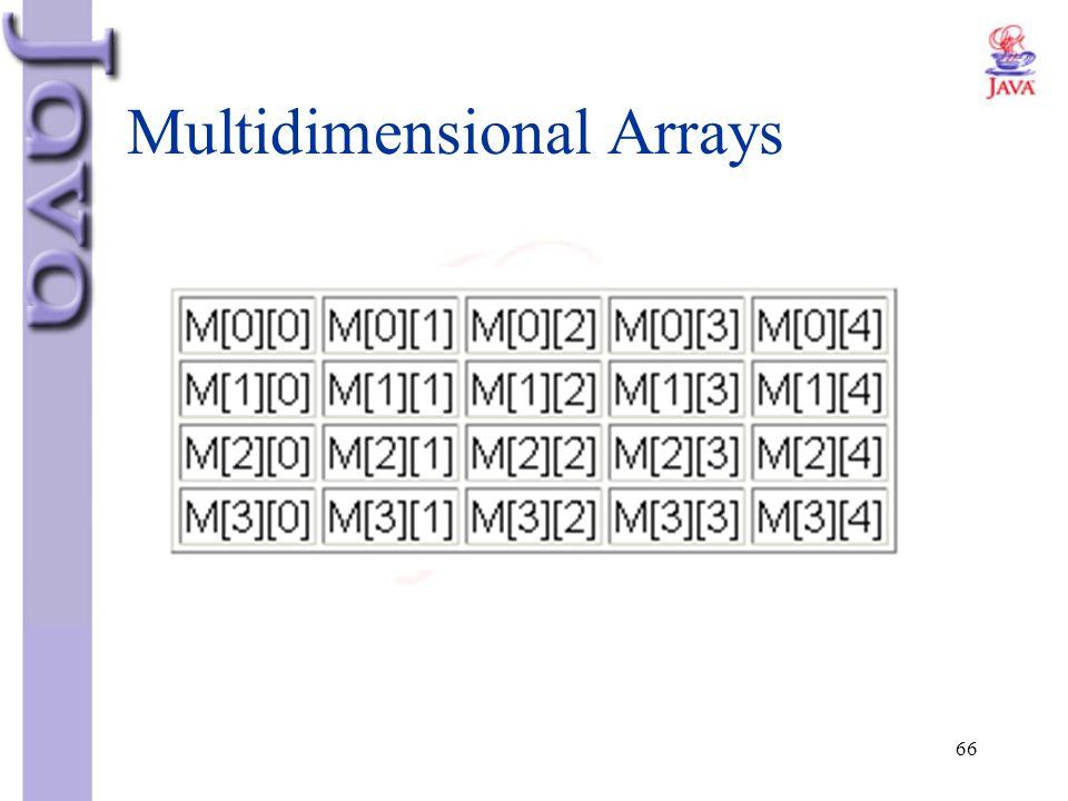 66 Multidimensional Arrays