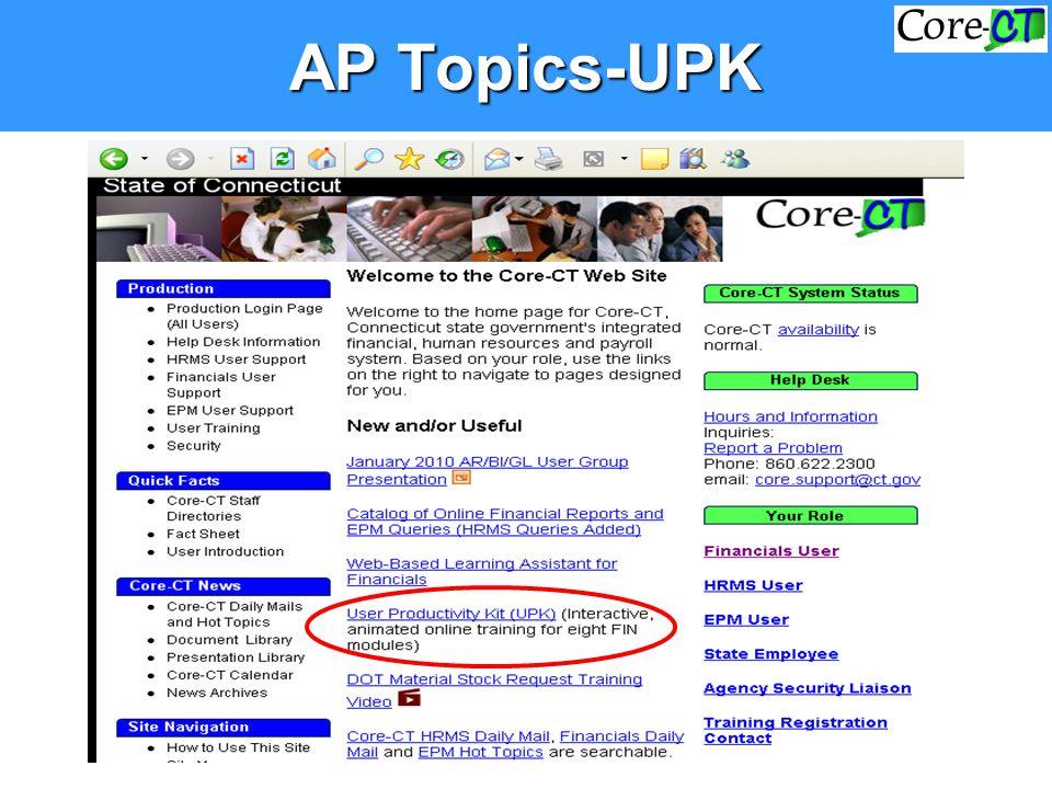 AP Topics-UPK