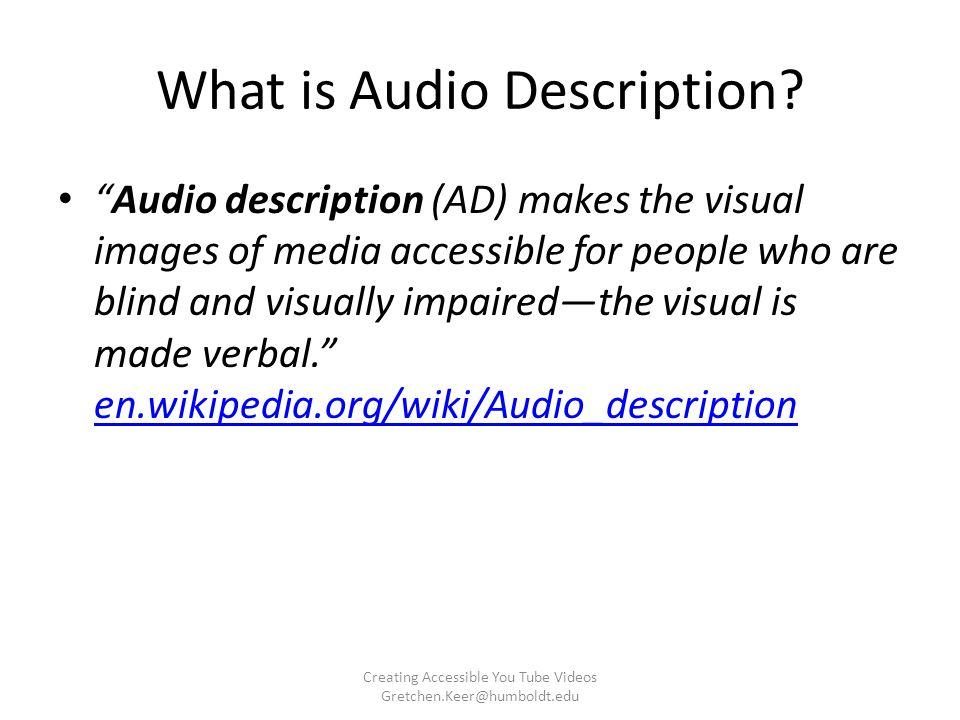 What is Audio Description.