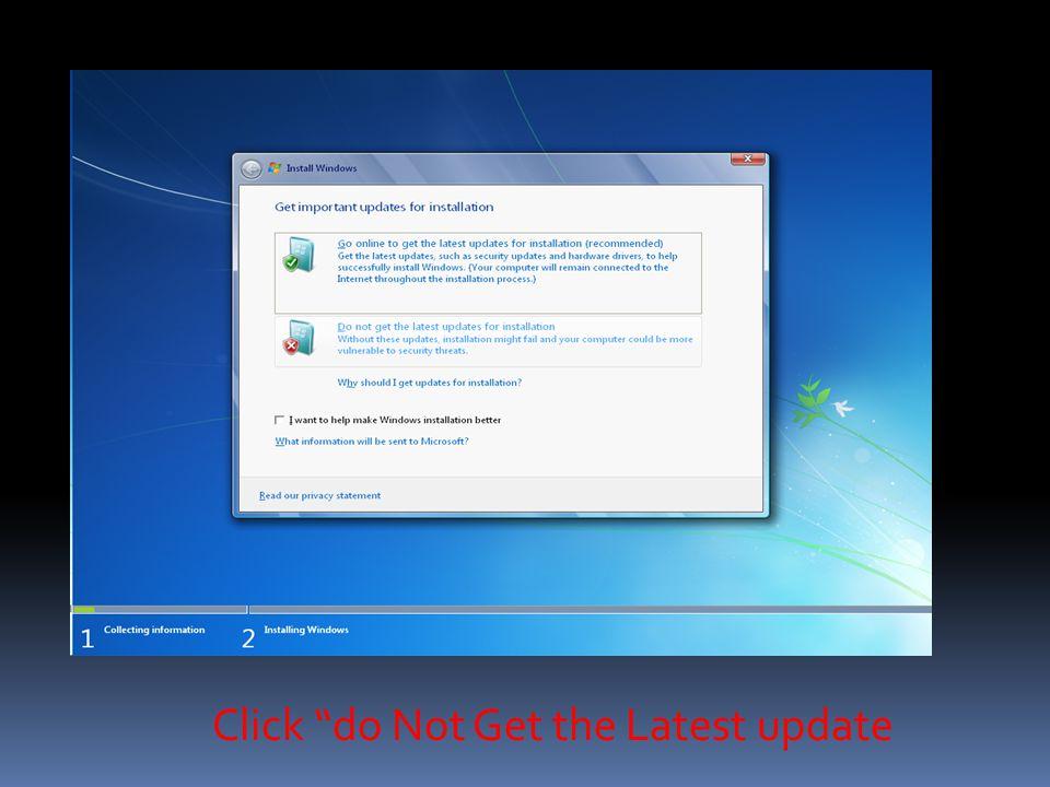 Choose 32Bit/64Bit For Installation