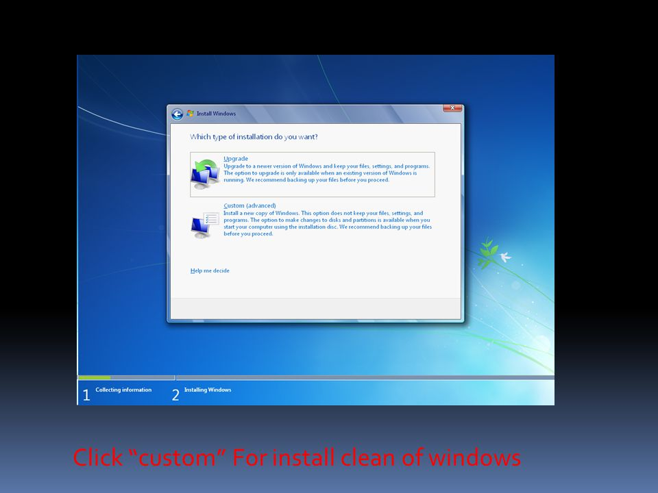 Select Installation partition