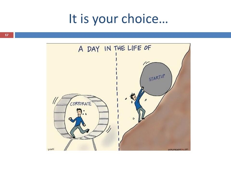 It is your choice… 17