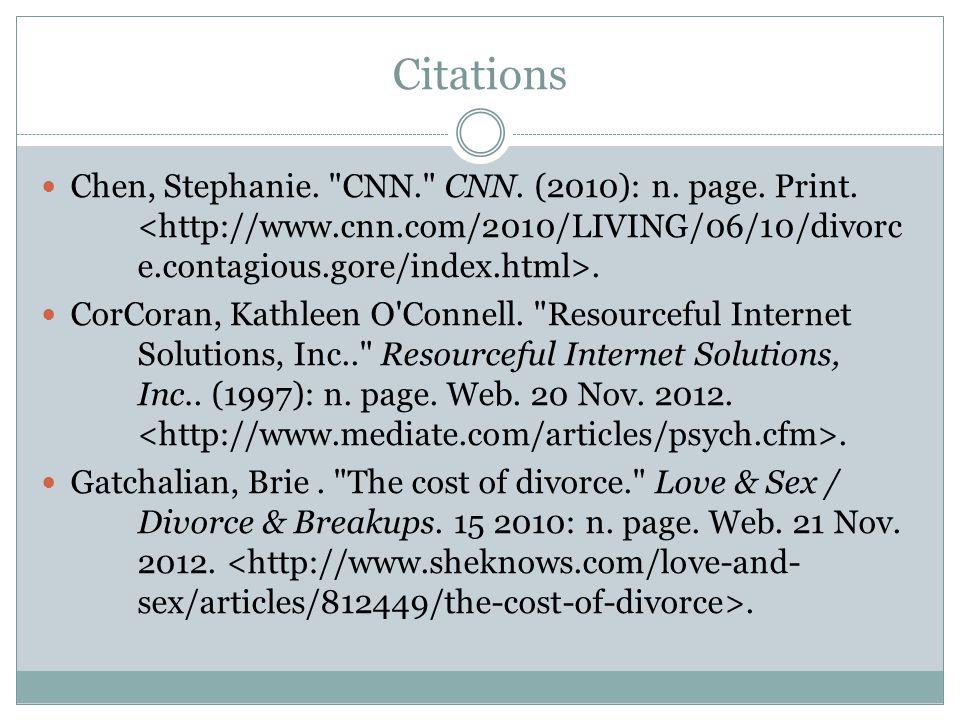 Citations Chen, Stephanie. CNN. CNN. (2010): n.
