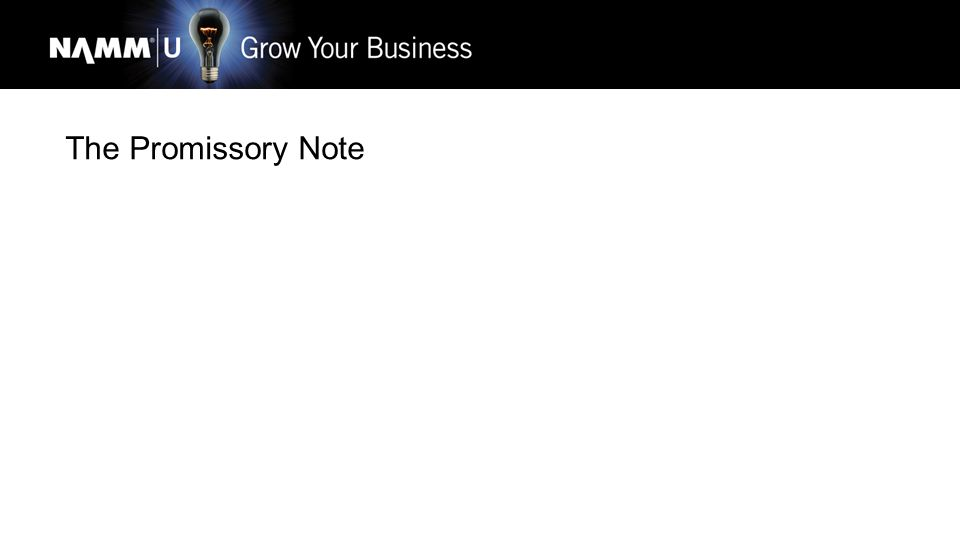 The Promissory Note