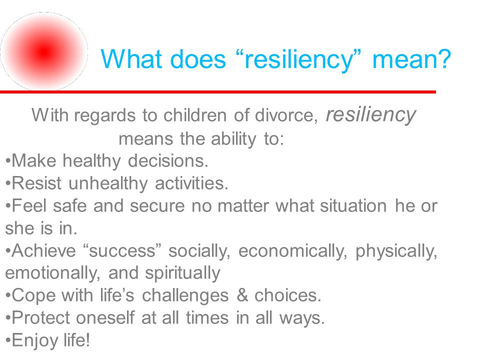 What does resiliency mean.