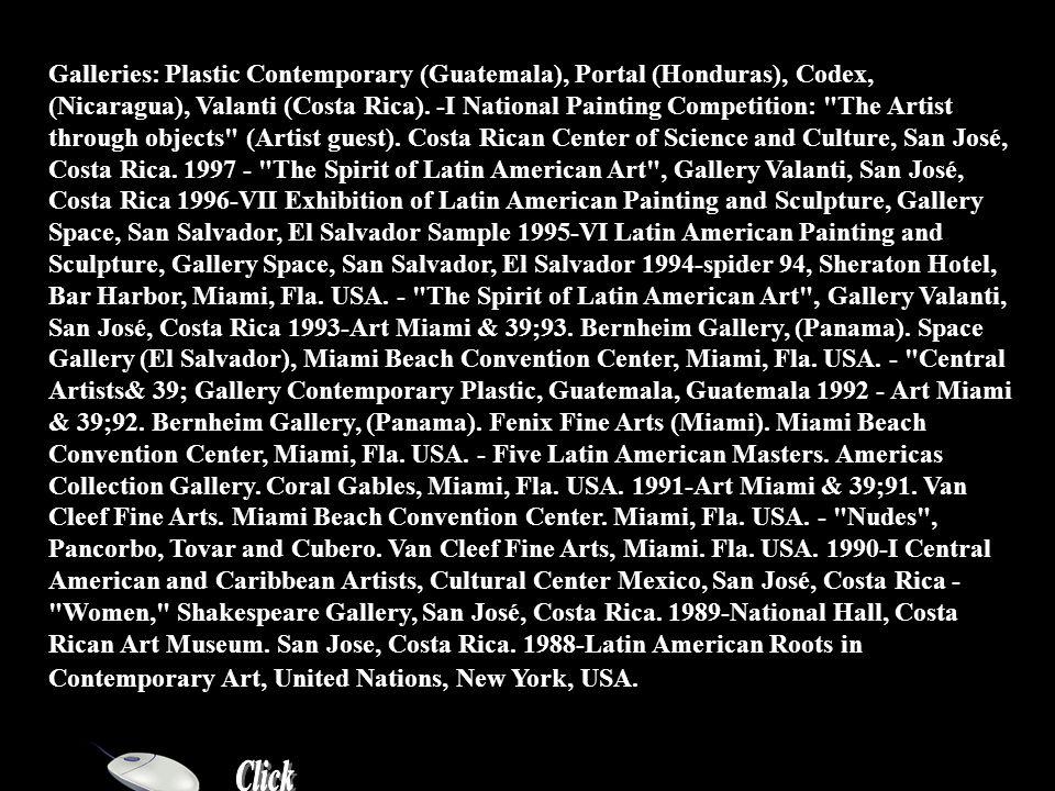 Rolando Cubero (Biography) Rolando Cubero Costa Rica, 1957 Solo Exhibitions 2002-Rolando Cubero Homage to Eros , Historical Museum Dr.