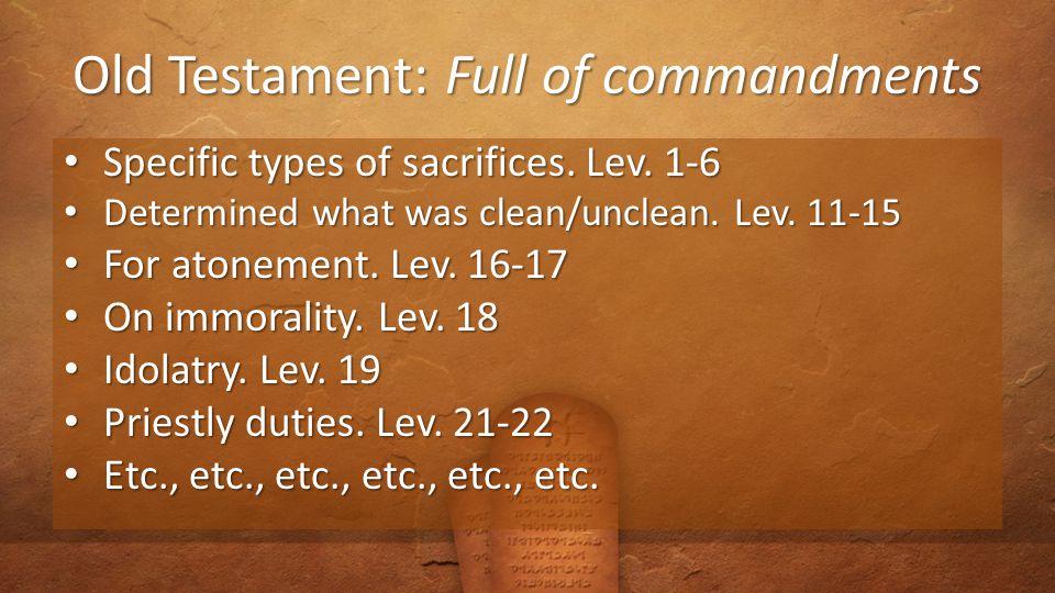 The Burden of Commandments.