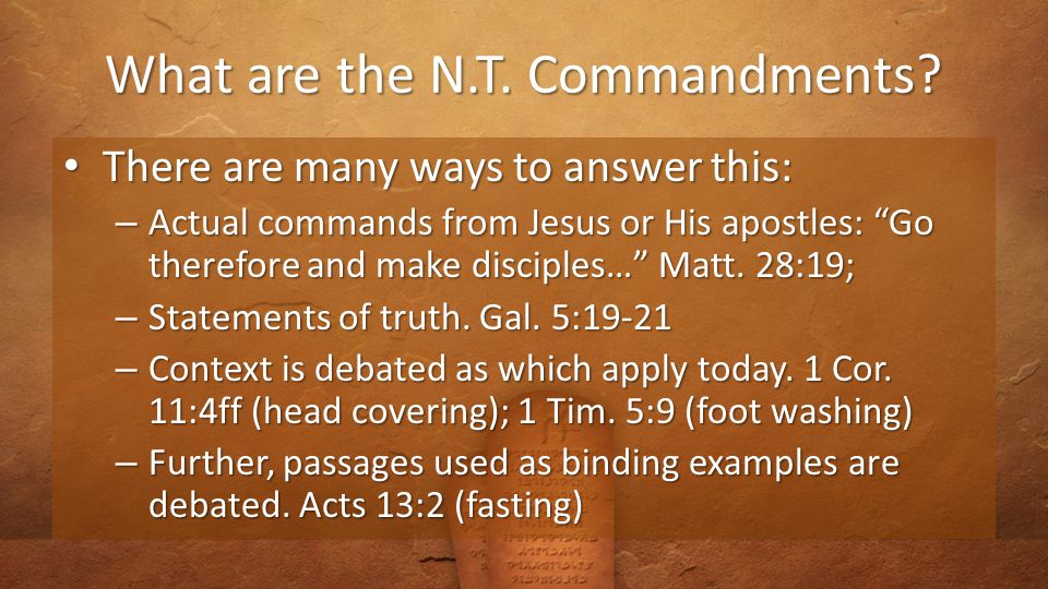What does that Look Like in the N.T..But I say unto you… Matt.