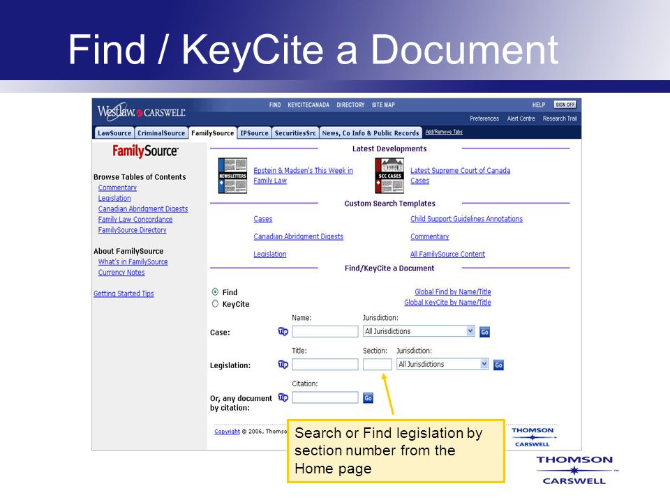 Custom Search Templates Easily search cases, statutes or commentary