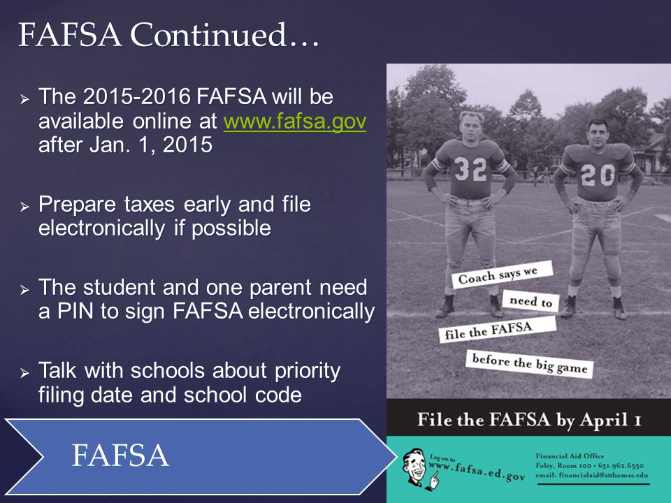 Students should always try to meet each schools priority filing date.