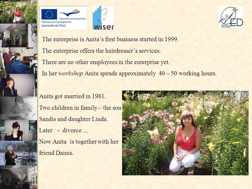 Anita's initial profession is machine – operator of wide profile.